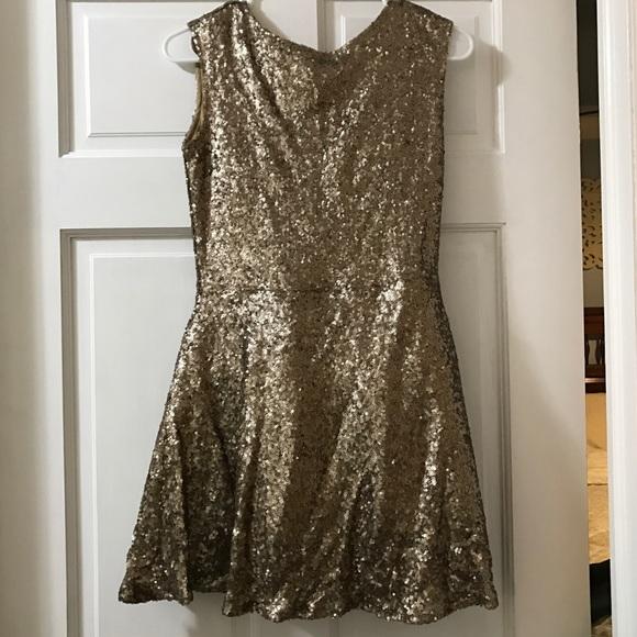 Women s Gold   Sparkly Tobi Dress 95e148de7c
